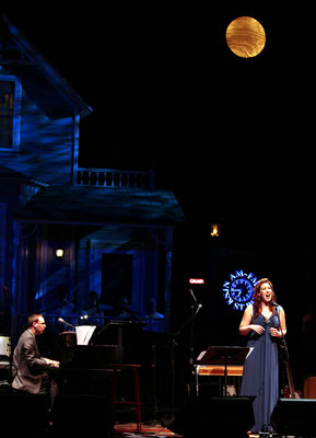 On the set of A Prairie Home Companion with soprano Ellie Dehn