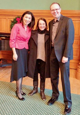 With composer Libby Larsen and mezzo Hyounsoo Lathrop