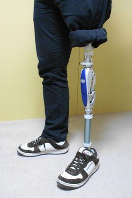 大腿義足 フォーム(スポンジ)なし。
