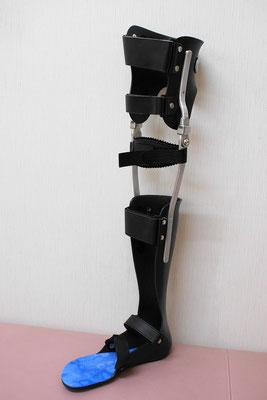 長下肢装具 LLB(黒) ベルト付