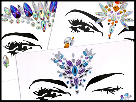 Face blings by Couleur Cameleon