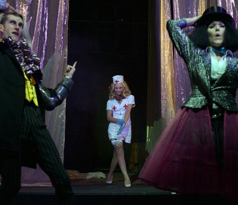 Janet (mit Karl Miller, Nadine Nollau) ROCKY HORROR SHOW 2014