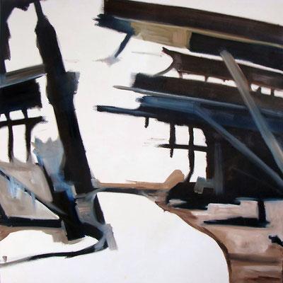 """""""Fragmente"""" 160 x 160 cm, Öl auf Leinwand, 2012"""