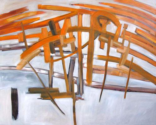 """Old Blank"", 140 x 160 cm, Öl auf Leinwand, 2012"