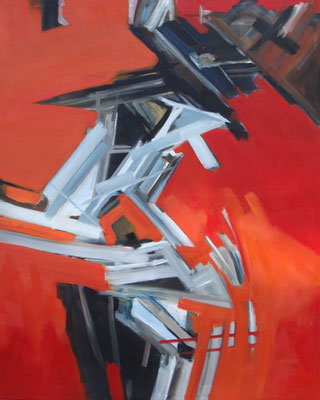 """Graffiti"", 160 x 200 cm, Öl auf Leinwand, 2012"