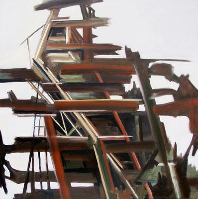 """""""Aufstand"""", 100 x 100 cm, Öl auf Leinwand, 2011"""
