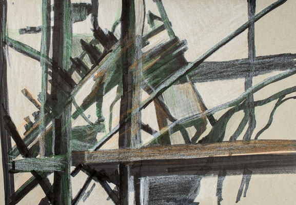 """""""Diffusion V"""", Zeichnung auf Papier, 21 x 30 cm, 2012"""