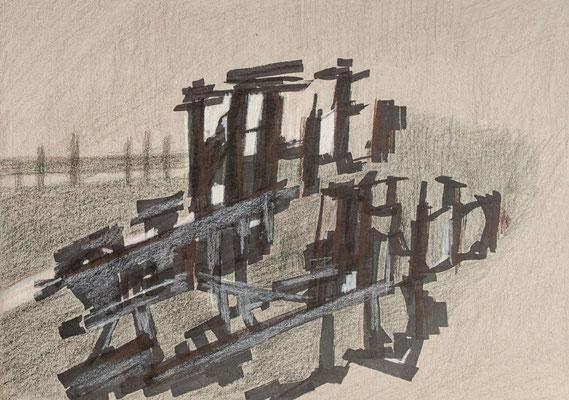 """""""Diffusion VI"""", Zeichnung auf Papier, 21 x 30 cm, 2012"""