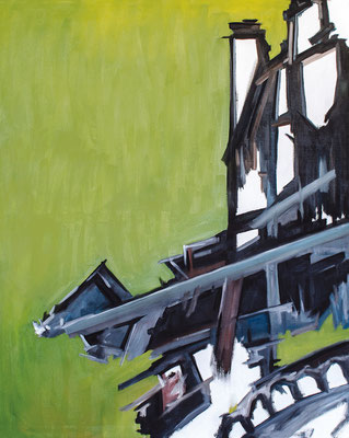 """Green Retention"", 160 x 200 cm, Öl auf Leinwand, 2012"