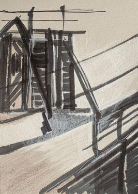 """""""Diffusion III"""", Zeichnung auf Papier, 21 x 30 cm, 2012"""