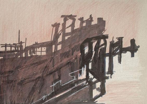 """""""Diffusion IV"""", Zeichnung auf Papier, 21 x 30 cm, 2012"""