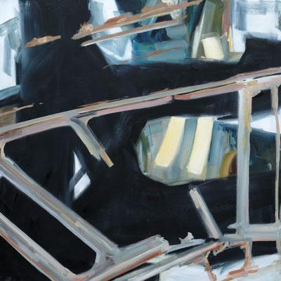 """Kaliber"", 100 x 100 cm, Öl auf Leinwand, 2019"