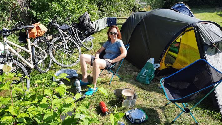 Fischerhaus Camping; schöner Platz direkt am Bodensee
