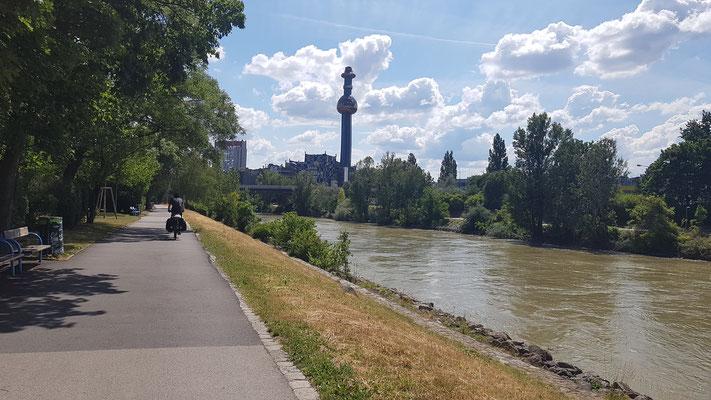 Einfahrt in Wien