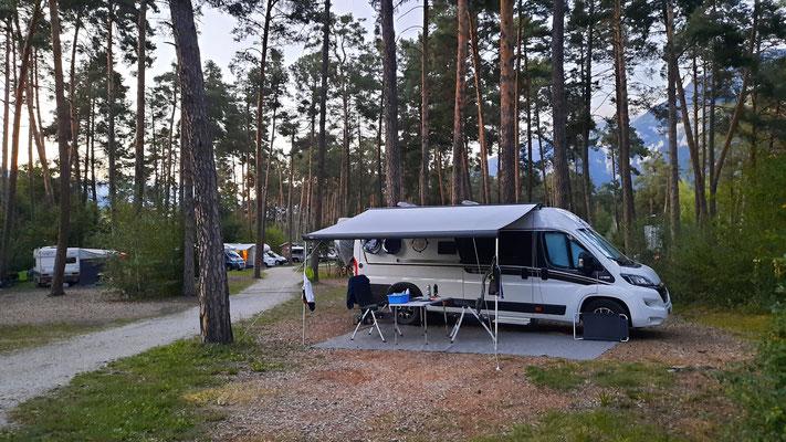 cooler, naturbelassener TCS-Campground in Thusis