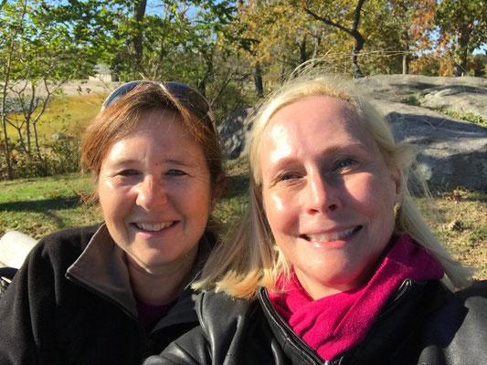 mit Evelyn im Cove Island Park, Stamford