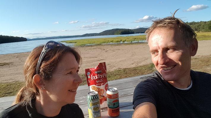 Piseco Lake, NY (mit geschenkten Bieren)
