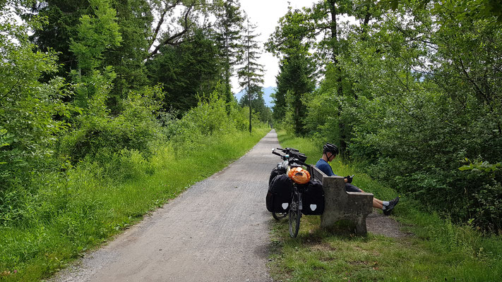 Pause im Naturschutzgebiet Matschels
