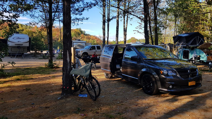 Campground in den White Mountains