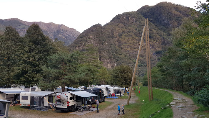 TCS Camping in Gordevio