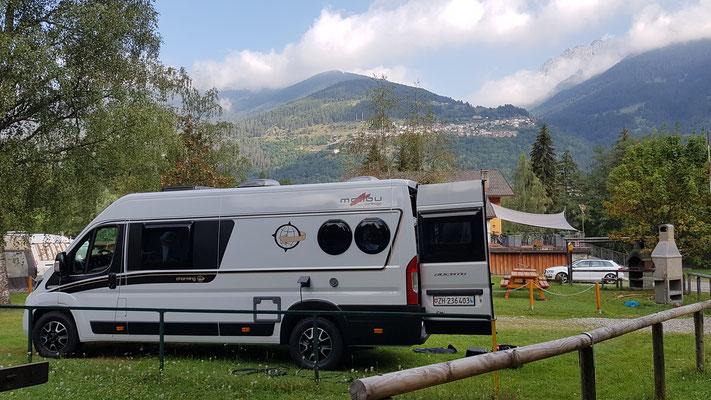 Campground Presanella als Ausgangspunkt für den Passo Gavia