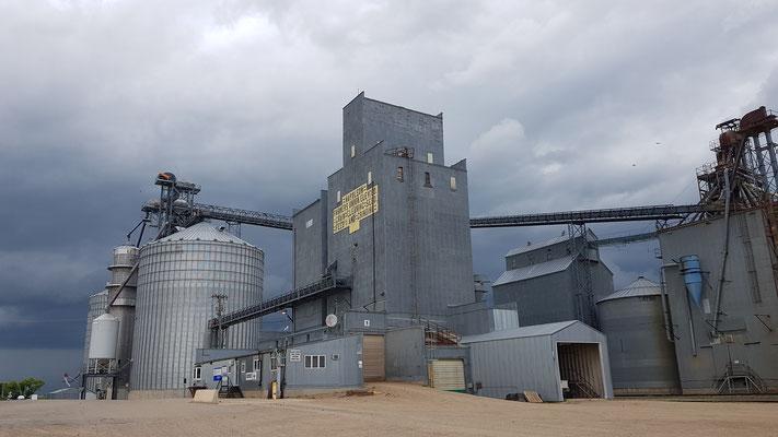 Getreide-Verladestation auf die Bahn