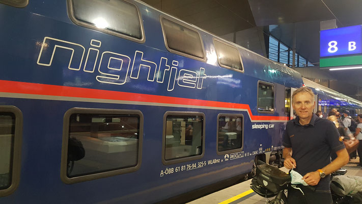 mit dem Nightjet zurück in die Schweiz