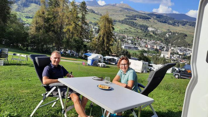 Top-Campground TCS Scuol mit toller Aussicht