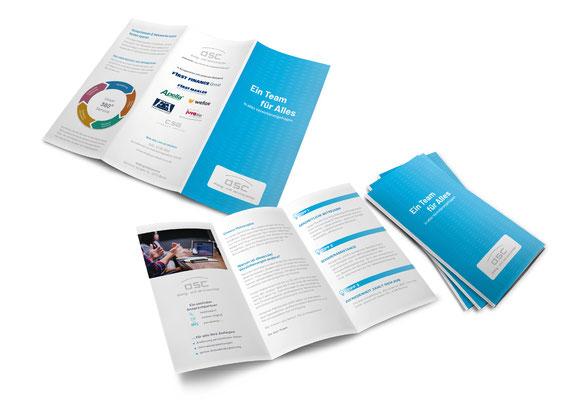 Redesign eines 6-Seitigen Imagefolders für die dsc-dialog und service