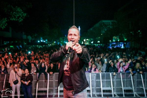 Mitch Keller beim Teltower Stadtfest 2018, Foto: Dirk Pagels