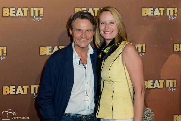 Wolfgang Bahro und Andrea Bahro bei der Weltpremiere vom Musical Beat It in Berlin, Foto: Dirk Pagels