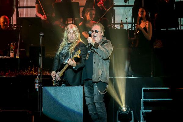 Mat Sinner und Mike Reno, Loverboy, Rock meets Classic, Foto: Dirk Pagels, Teltow