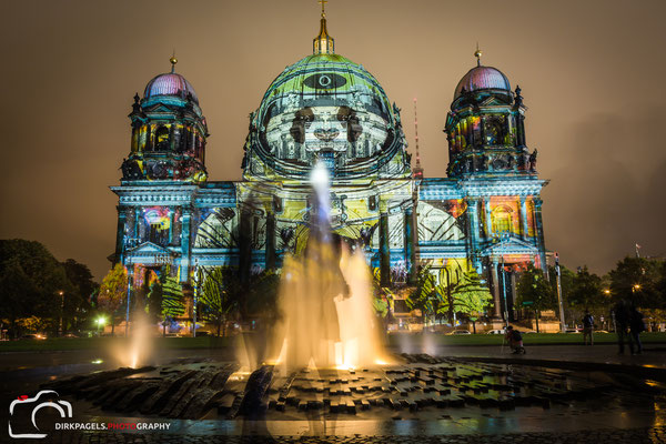 Berliner Dom, Festival of Lights 2016, Foto: Dirk Pagels, Teltow
