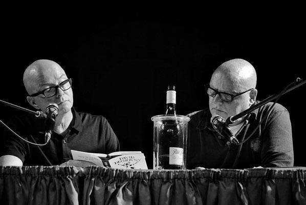 Oliver Rohrbeck und Detlef Bierstedt bei einer Prima Vista Lesung in Teltow 2019, Foto: Dirk Pagels