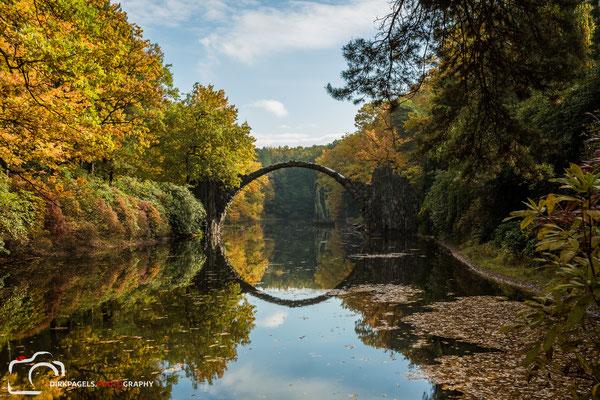 Rakotzbrücke in Kromlau, Foto: Dirk Pagels