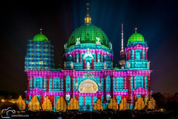 Berliner Dom beim Festival of Lights 2018 in Berlin, Foto: Dirk Pagels, Teltow