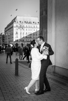 Hochzeit am Brandenburger Tor Berlin 2019, Foto: Dirk Pagels, Teltow