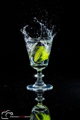 Splash Shooting mit einer Limette, Foto: Dirk Pagels