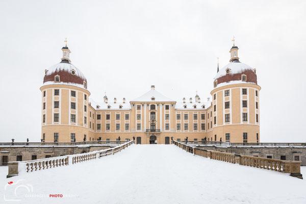 Schloss Moritzburg im Schneesturm, Foto: Dirk Pagels