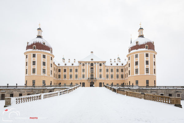 Schloss Moritzburg im Schneesturm, Foto: Dirk Pagels, Teltow