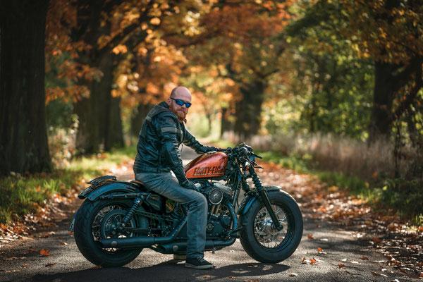Shooting, Harley Davidson, Oktober 2020, Foto: Dirk Pagels, Teltow