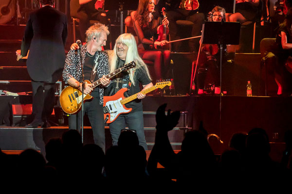 Pete Lincoln und Andy Scott, The Sweet, Rock meets Classic, Foto: Dirk Pagels, Teltow