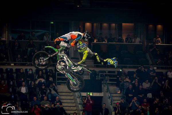 Doppelsprung Night of the Jumps 2020, Mercedes-Benz Arena Berlin, Foto: Dirk Pagels, Teltow