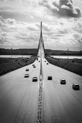 Die Pont de Normandie zwische Le Havre und Honfleur, Foto: Dirk Pagels, Teltow