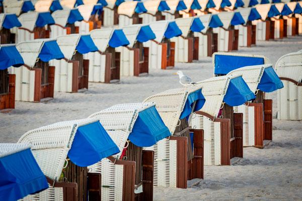 Strandkörbe in Grömitz, Foto: Dirk Pagels, Teltow