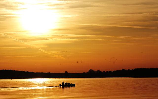 Sonnenuntergang am Rangsdorfer See 2014, Foto: Dirk Pagels, Teltow