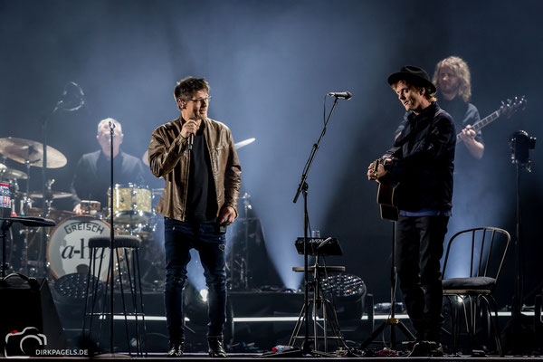 A-ha am 29.01.2018 in der Mercedes Benz Arena, Foto: Dirk Pagels