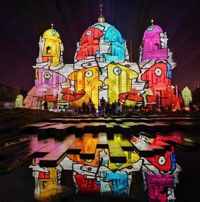 Der Berliner Dom beim Festival of Lights 2021, Foto: Dirk Pagels, Teltow