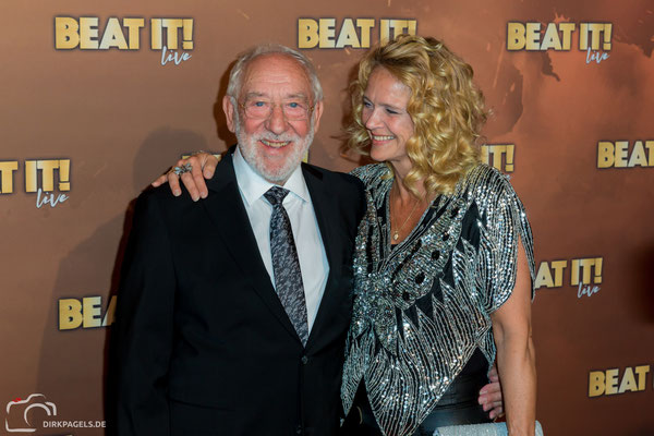 Dieter Hallervorden und Christiane Zander bei der Weltpremiere vom Musical Beat It in Berlin, Foto: Dirk Pagels