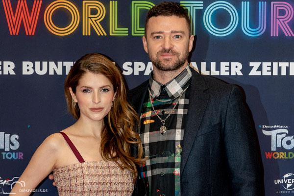 Anna Kendrick und Justin Timberlake beim Pressecall von Trolls-World Tour, am 17.02.2020 im Waldorf Astoria Berlin, Foto: Dirk Pagels, Teltow